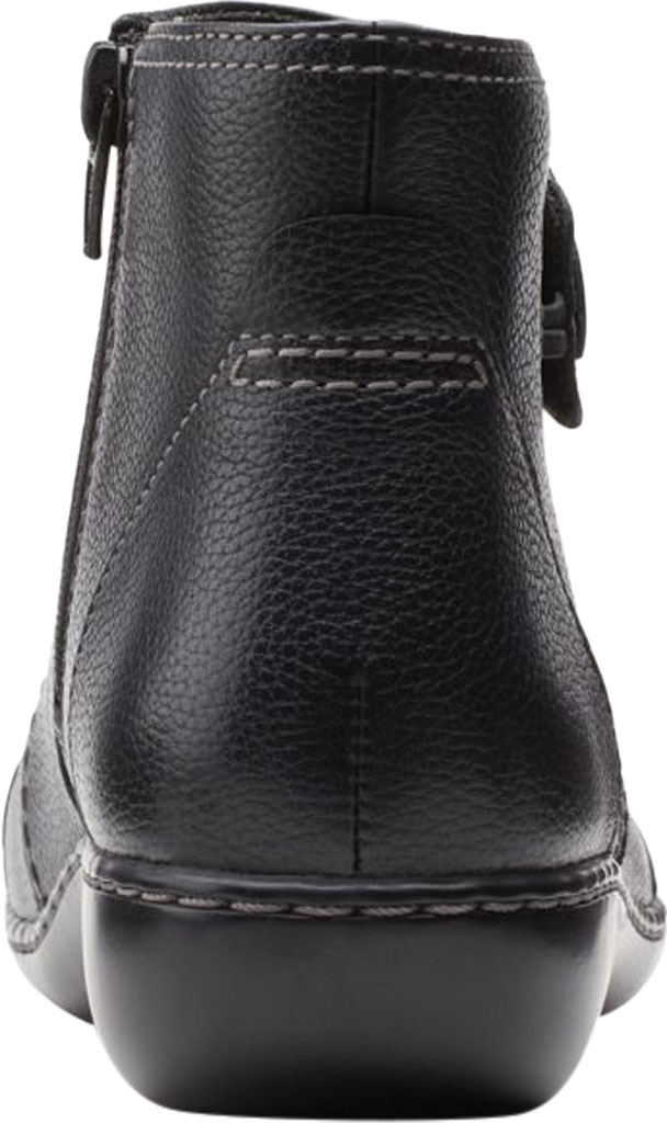 Women's Clarks Ashland Holly Ankle Bootie, Black Full Grain Leather, large, image 4