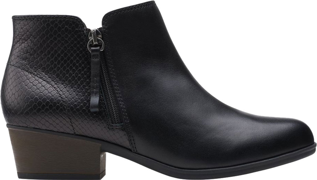 Women's Clarks Areenda Hope Ankle Bootie, Black Leather, large, image 2