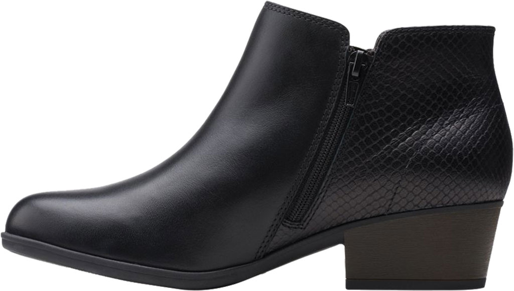 Women's Clarks Areenda Hope Ankle Bootie, Black Leather, large, image 3