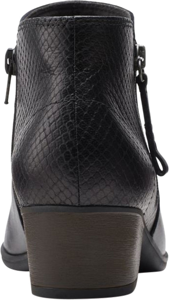 Women's Clarks Areenda Hope Ankle Bootie, Black Leather, large, image 4