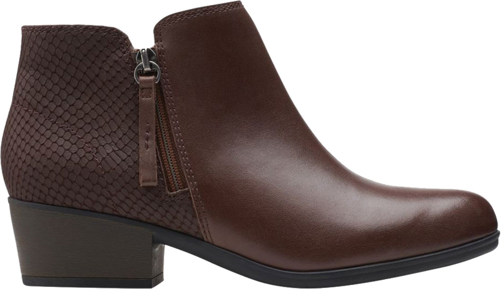 Women's Clarks Areenda Hope Ankle Bootie, Brown Leather, large, image 2
