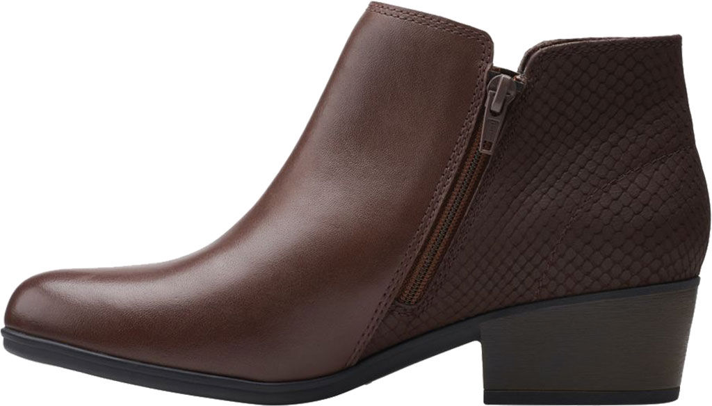 Women's Clarks Areenda Hope Ankle Bootie, Brown Leather, large, image 3