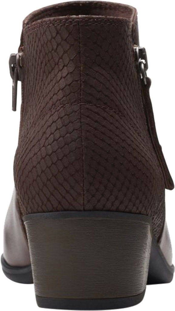 Women's Clarks Areenda Hope Ankle Bootie, Brown Leather, large, image 4