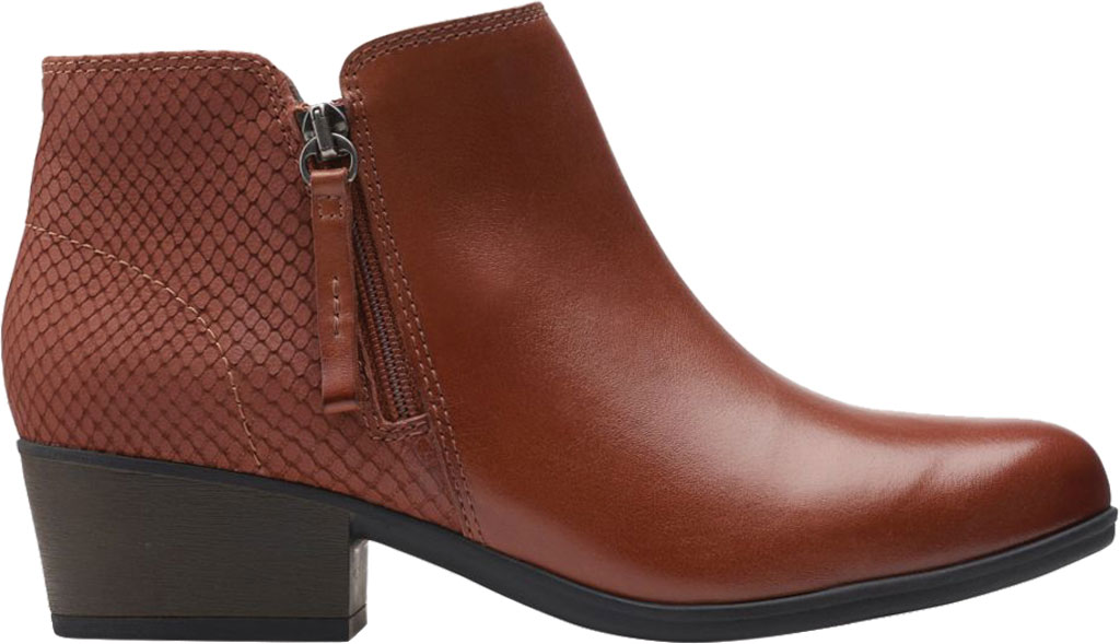 Women's Clarks Areenda Hope Ankle Bootie, Mahogany Leather, large, image 2