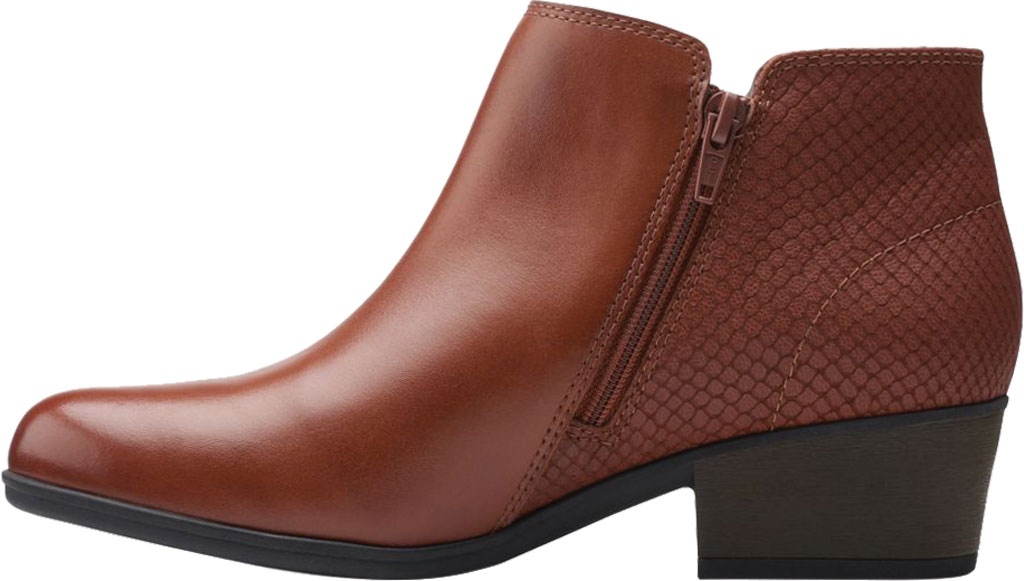 Women's Clarks Areenda Hope Ankle Bootie, Mahogany Leather, large, image 3