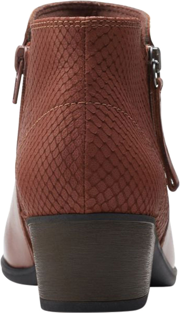 Women's Clarks Areenda Hope Ankle Bootie, Mahogany Leather, large, image 4