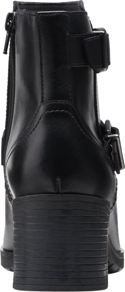 Women's Clarks Hollis Sonar Ankle Bootie, Black Full Grain Leather, large, image 4