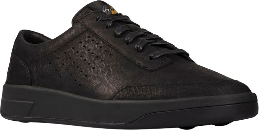 Women's Clarks Hero Air Lace Sneaker, Black Suede, large, image 1