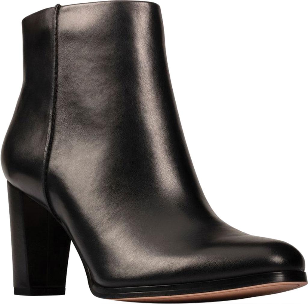Women's Clarks Kaylin Fern 2 Ankle Bootie, Black Leather, large, image 1