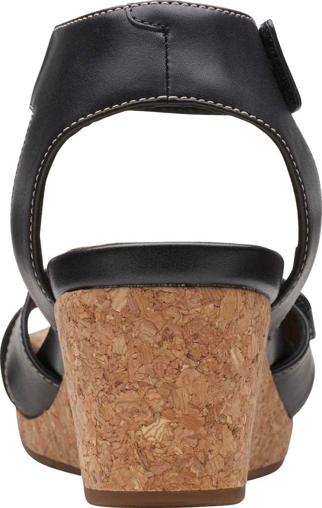 Women's Clarks Un Capri Strap Wedge Sandal, Black Full Grain Leather, large, image 4