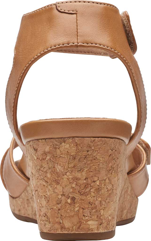 Women's Clarks Un Capri Strap Wedge Sandal, Light Tan Full Grain Leather, large, image 4