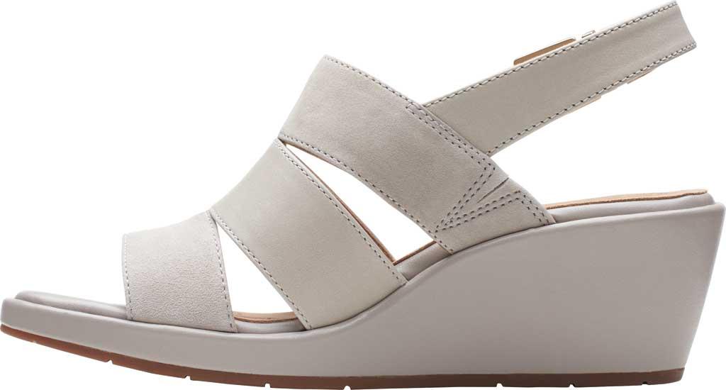Women's Clarks Un Plaza Go Wedge Sandal, Stone Combination Full Grain Leather, large, image 3