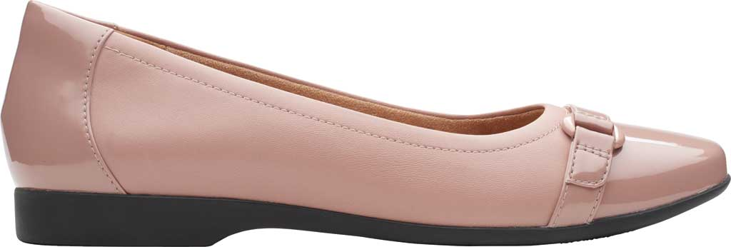 Women's Clarks Un Darcey Go Flat, Dusty Pink Combination Suede, large, image 2