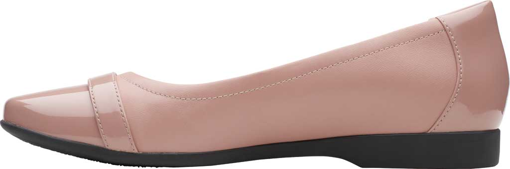 Women's Clarks Un Darcey Go Flat, Dusty Pink Combination Suede, large, image 3