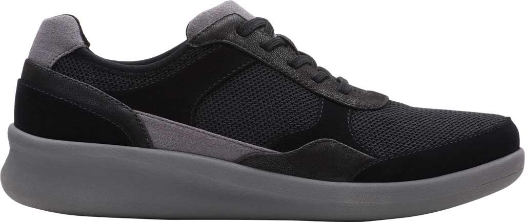 Women's Clarks Sillian 2.0 Lace Sneaker, Black Fabric, large, image 2