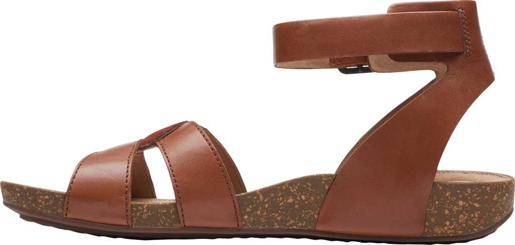 Women's Clarks Un Perri Loop Ankle Strap Sandal, Dark Tan Combination Full Grain Leather, large, image 3