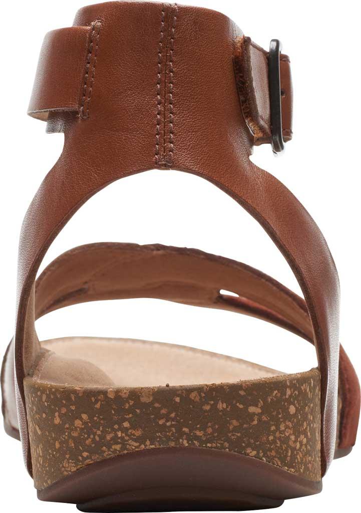 Women's Clarks Un Perri Loop Ankle Strap Sandal, Dark Tan Combination Full Grain Leather, large, image 4