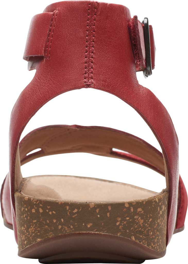 Women's Clarks Un Perri Loop Ankle Strap Sandal, Red Combination Full Grain Leather, large, image 4