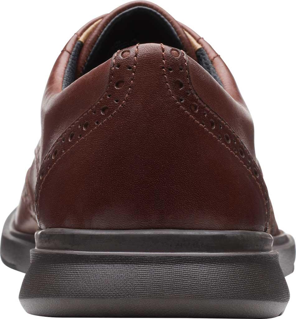 Men's Clarks Un Lipari Ave Wing Tip Oxford, Mahogany Full Grain Leather, large, image 4