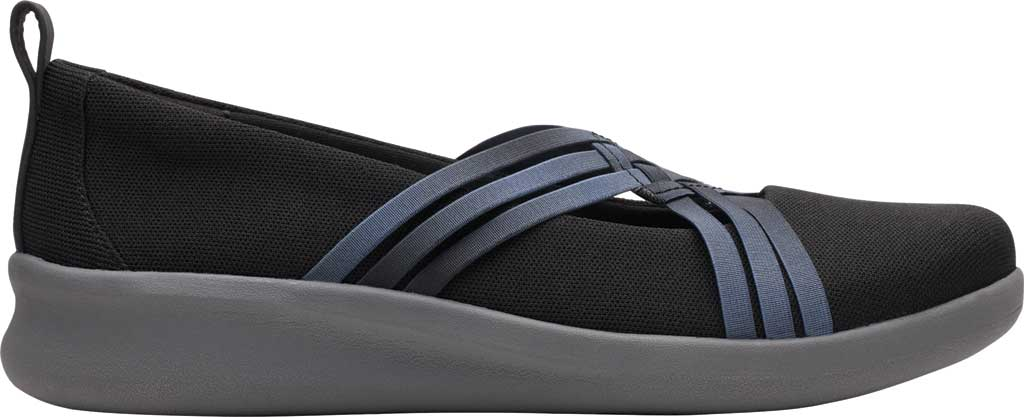 Women's Clarks Sillian 2.0 Cora Slip On, Black Synthetic, large, image 2