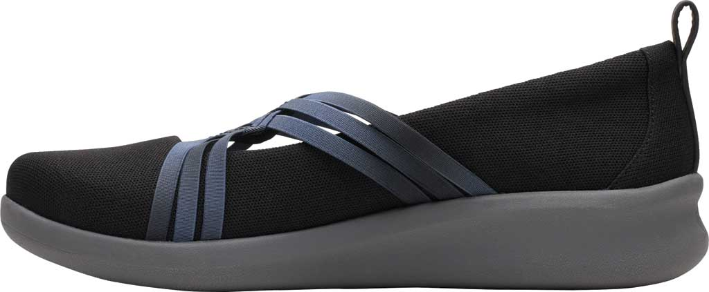 Women's Clarks Sillian 2.0 Cora Slip On, Black Synthetic, large, image 3