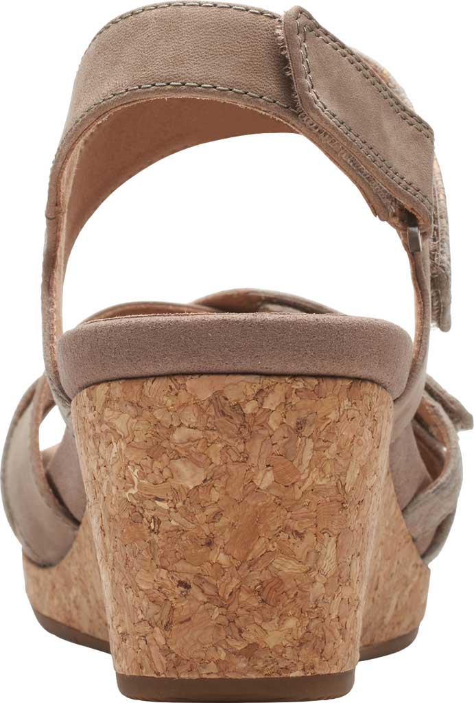 Women's Clarks Un Capri Walk Wedge Sandal, Taupe Nubuck/Leather, large, image 4