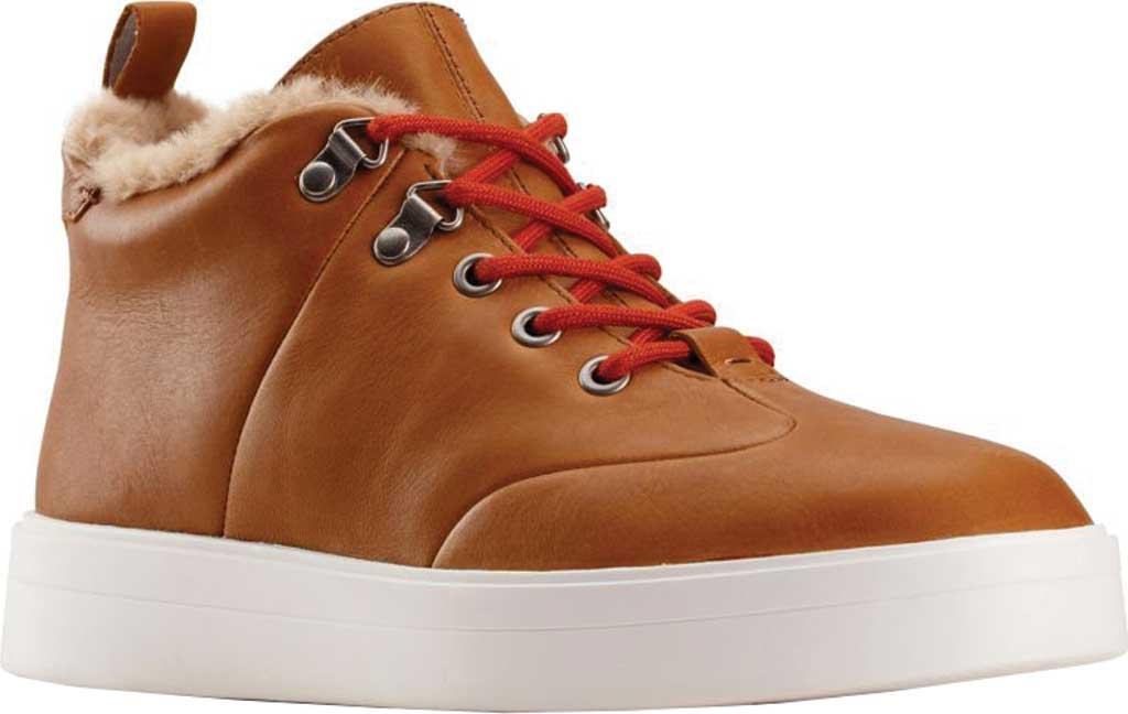 Women's Clarks Hero Hiker Sneaker, Dark Tan Warm Lined Leather, large, image 1