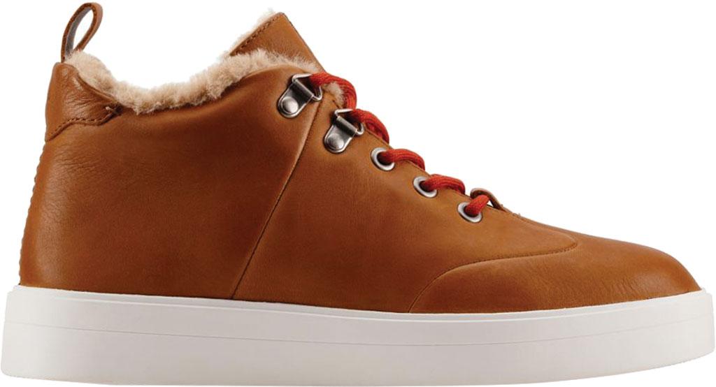 Women's Clarks Hero Hiker Sneaker, Dark Tan Warm Lined Leather, large, image 2
