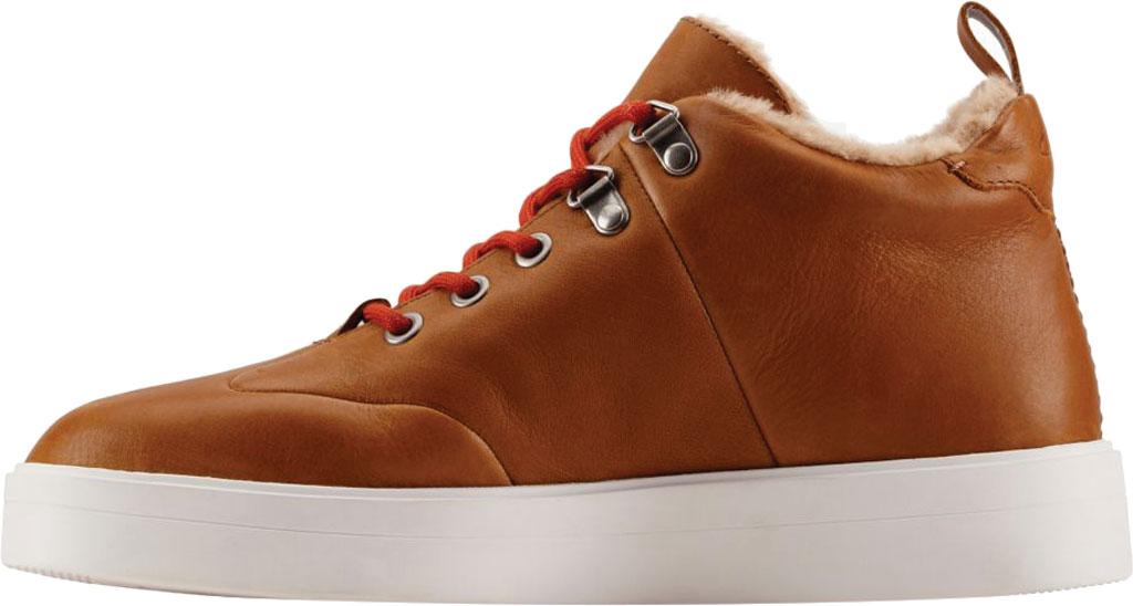 Women's Clarks Hero Hiker Sneaker, Dark Tan Warm Lined Leather, large, image 3