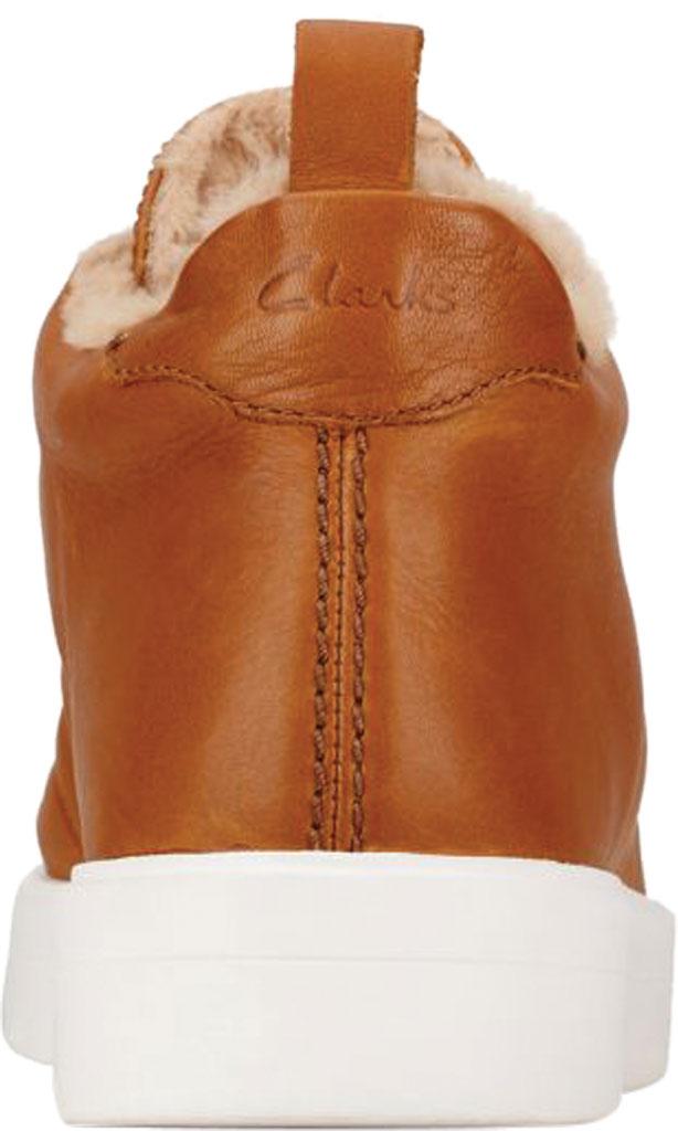 Women's Clarks Hero Hiker Sneaker, Dark Tan Warm Lined Leather, large, image 4