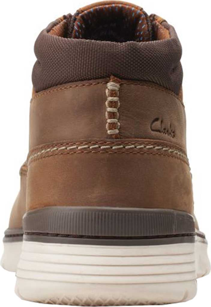 Men's Clarks Braxin Mid Ankle Boot, Beeswax Combination Leather/Textile, large, image 4