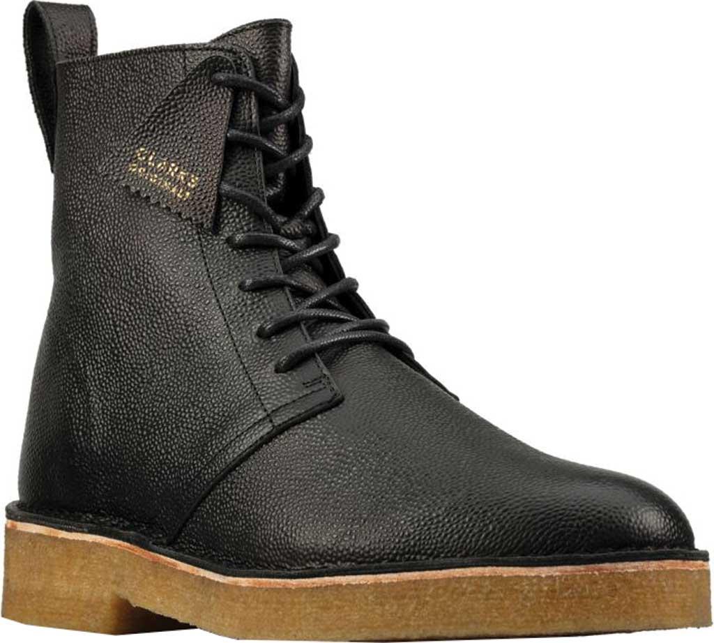 Men's Clarks Desert Mali 2 6-Eye Boot, Black Scotch Grain Leather, large, image 1