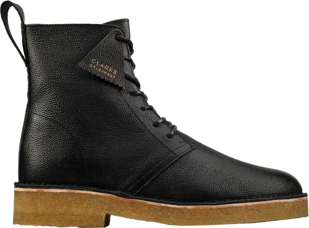 Men's Clarks Desert Mali 2 6-Eye Boot, Black Scotch Grain Leather, large, image 2