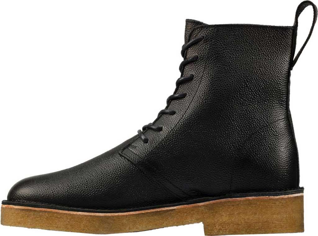 Men's Clarks Desert Mali 2 6-Eye Boot, Black Scotch Grain Leather, large, image 3