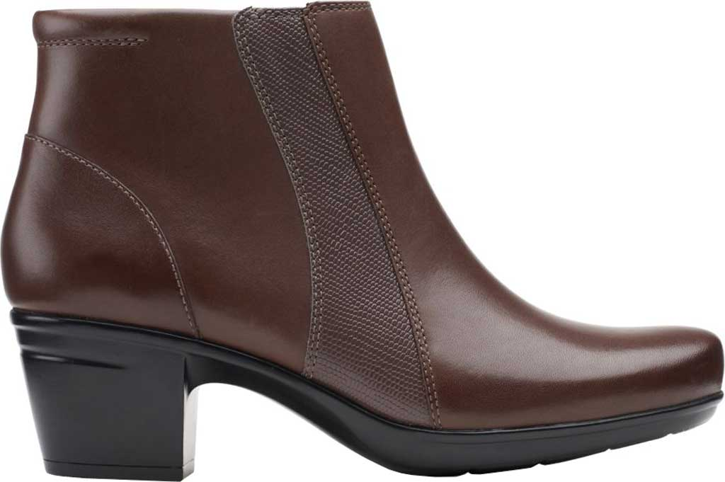 Women's Clarks Emslie Newport Ankle Boot, Dark Brown Full Grain Leather, large, image 2