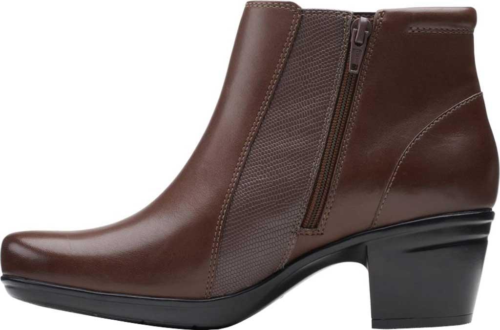 Women's Clarks Emslie Newport Ankle Boot, Dark Brown Full Grain Leather, large, image 3