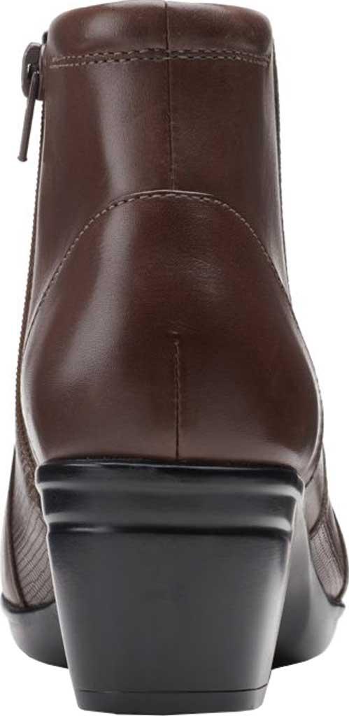Women's Clarks Emslie Newport Ankle Boot, Dark Brown Full Grain Leather, large, image 4