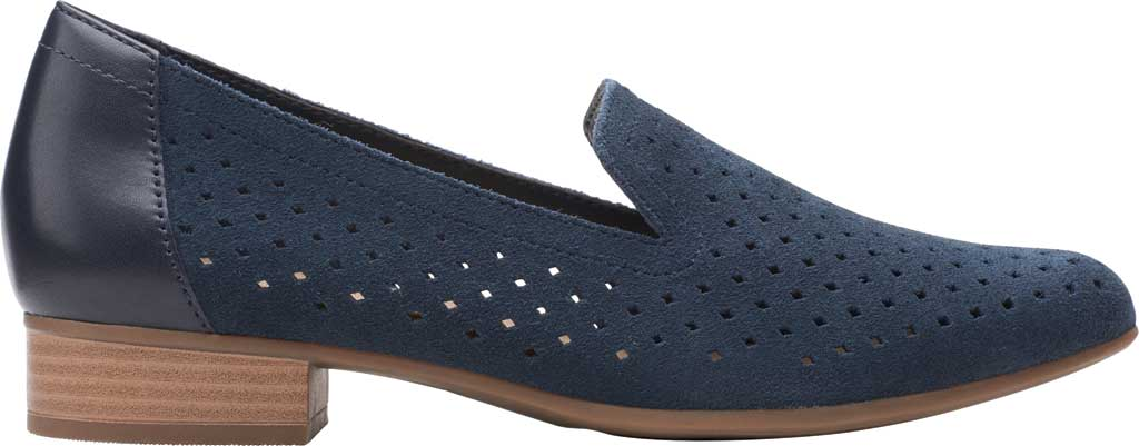 Women's Clarks Juliet Hayes Perf Loafer, Navy Suede, large, image 2