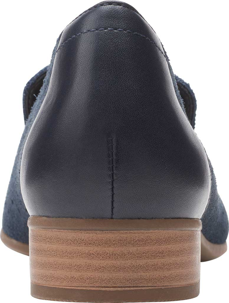 Women's Clarks Juliet Hayes Perf Loafer, Navy Suede, large, image 4