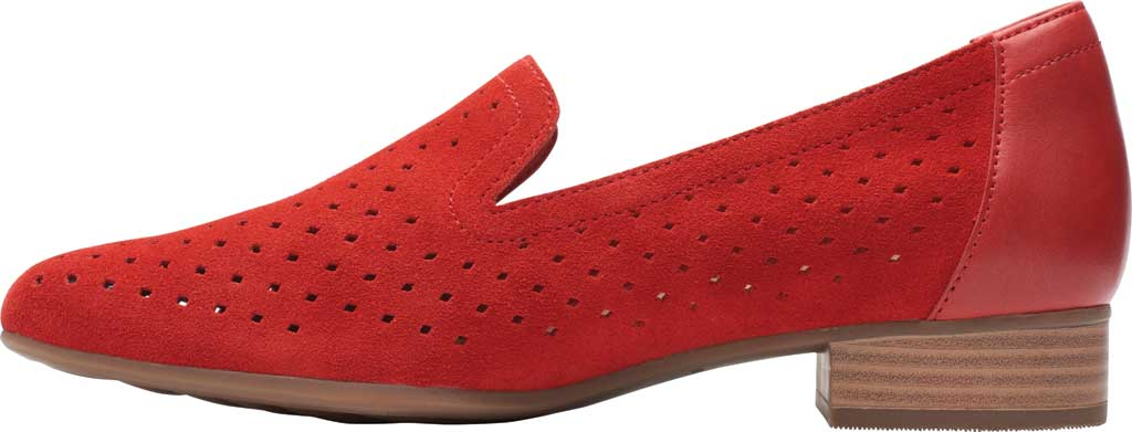 Women's Clarks Juliet Hayes Perf Loafer, Red Suede, large, image 3