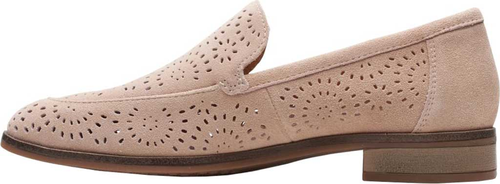 Women's Clarks Trish Calla Loafer, Sand Suede, large, image 3