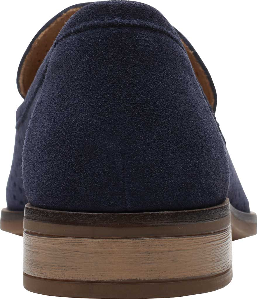 Women's Clarks Trish Calla Loafer, Navy Suede, large, image 4