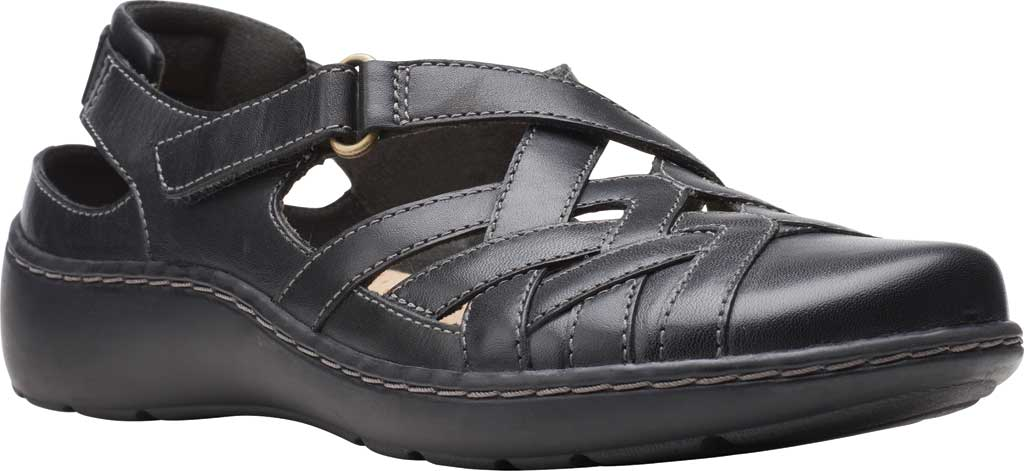 Women's Clarks Cora Dream Closed Toe Sandal, Black Leather, large, image 1