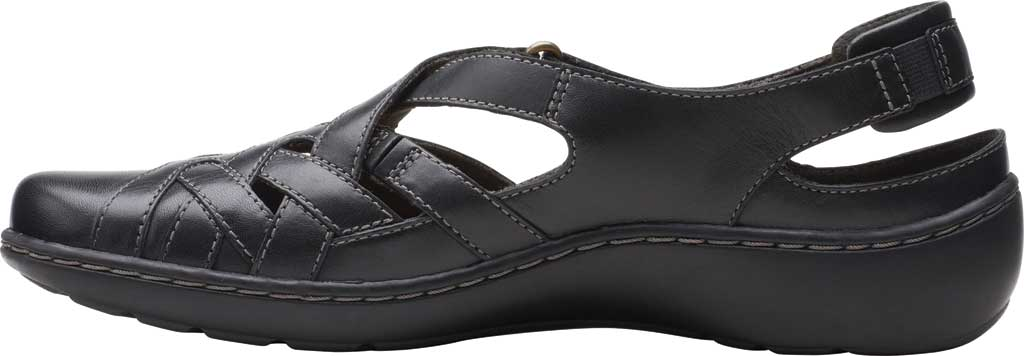 Women's Clarks Cora Dream Closed Toe Sandal, Black Leather, large, image 3
