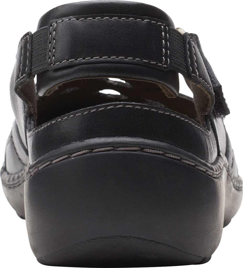 Women's Clarks Cora Dream Closed Toe Sandal, Black Leather, large, image 4