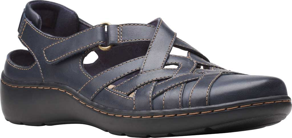 Women's Clarks Cora Dream Closed Toe Sandal, Navy Leather, large, image 1