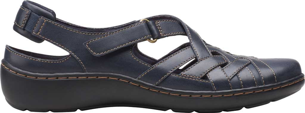 Women's Clarks Cora Dream Closed Toe Sandal, Navy Leather, large, image 2