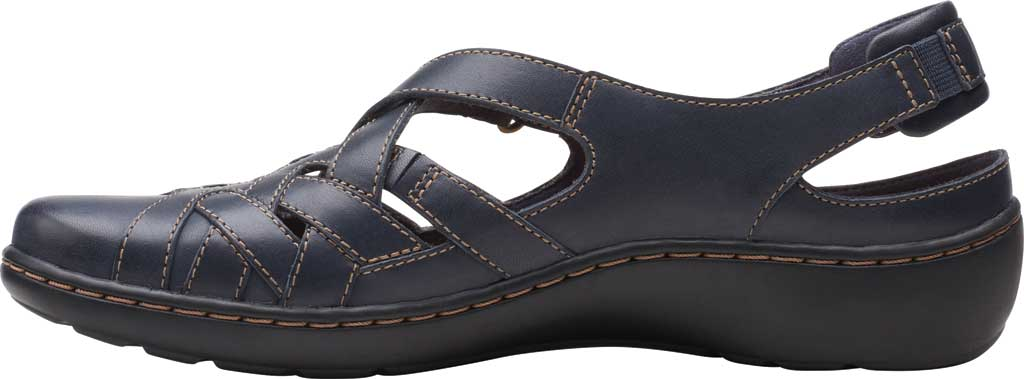 Women's Clarks Cora Dream Closed Toe Sandal, Navy Leather, large, image 3