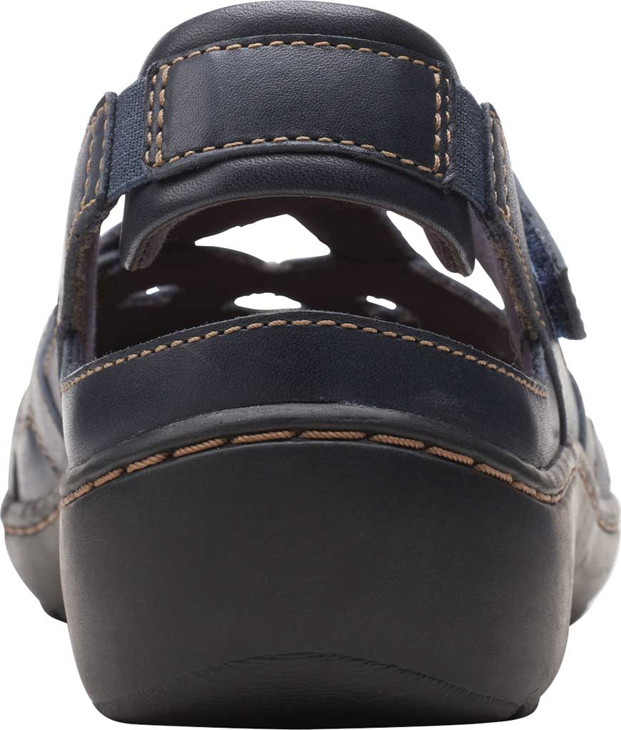 Women's Clarks Cora Dream Closed Toe Sandal, Navy Leather, large, image 4