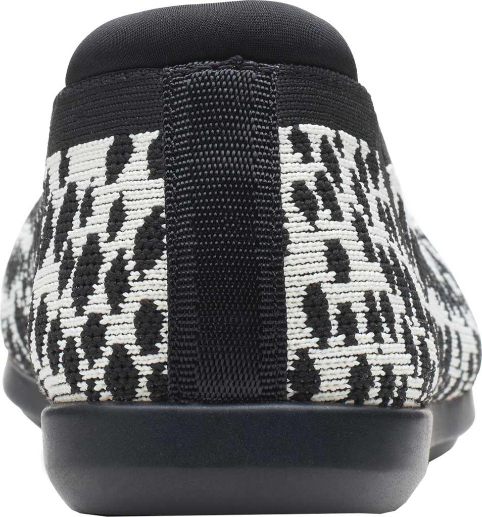 Women's Clarks Carly Wish Ballet Flat, White/Black Interest Knit, large, image 4